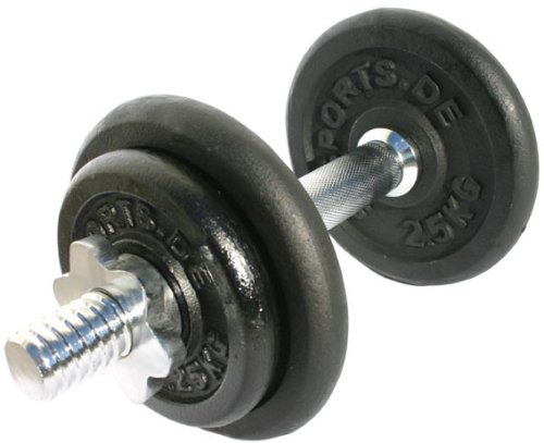 ScSPORTS Hantelset Guss Set 10 kg mit 1 x Kurzhantel 2 x 2,5 kg 2 x 1,25 kg Hantelscheiben, 10000074