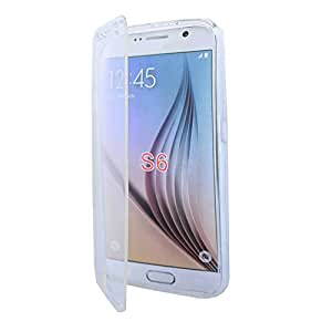Lapinette - Etui Housse Coque Gel Rabat Samsung Galaxy S6 - Transparent