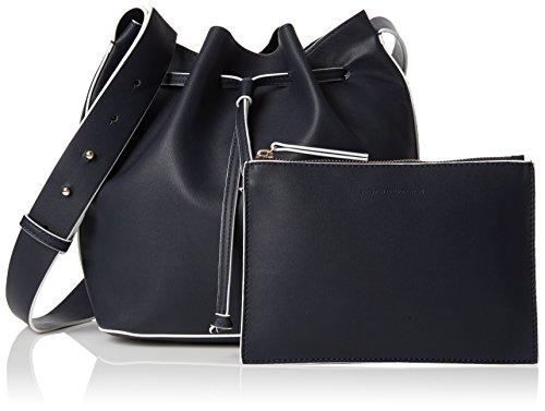 French Connection - Chelsea Bucket Bag, Borsa a spalla Donna Blau (UTILITY BLUE/WHITE)