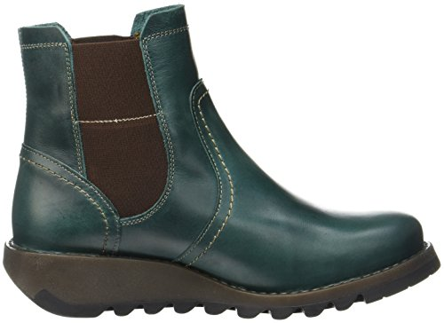 Fly London Gore-Tex SCON058FLY, Stivali Chelsea Donna Verde (Petrol)