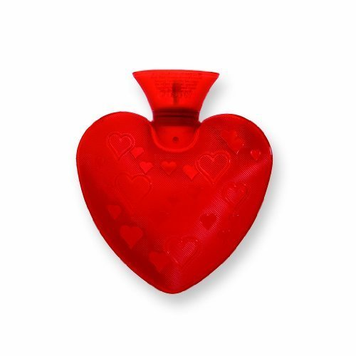 Transparent Heart Shaped Hot Water Bottle- Made in Germany by Fashy (English Manual)