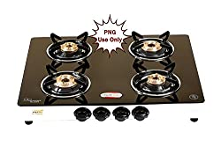 brightflame 4 Burner Glass Top Auto Ignition PNG Gas Stove