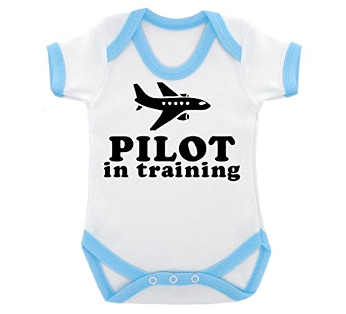 pilot-in-training-design-baby-body-mit-blau-kontrast-trim-schwarz-print-gr-68-weiss-blau
