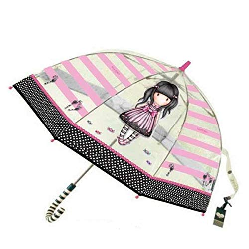 Gorjuss Paraguas Transparente Adulto Largo 65cm 'Sugar