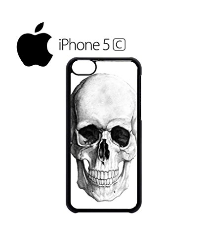 Skull Skeleton Fashion Mobile Cell Phone Case Cover iPhone 5c Black Weiß