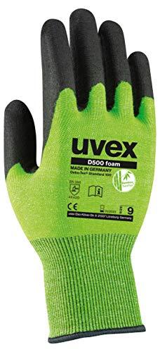 Uvex 60604 Schnittfeste Arbeitshandschuhe - Lime-Schwarz - Gr 09 (L) Schwarzer Bambus