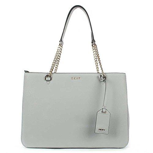 DKNY , Damen Schultertasche grau Grey Patent (Damen Shopper Dkny)