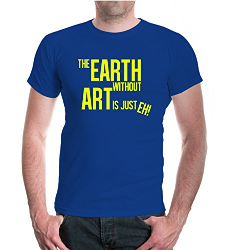 buXsbaum® T-Shirt The Earth without art is just eh Royal-Neonyellow