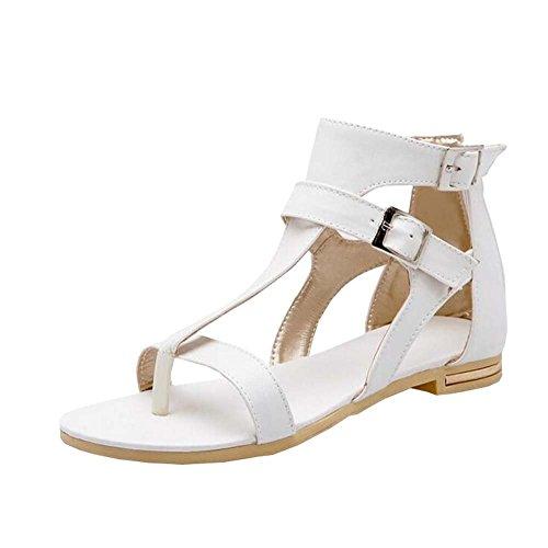 Sommer 2016 Frühling Sandalen Weiß Flache Schuhe Sehne Und PqRqf