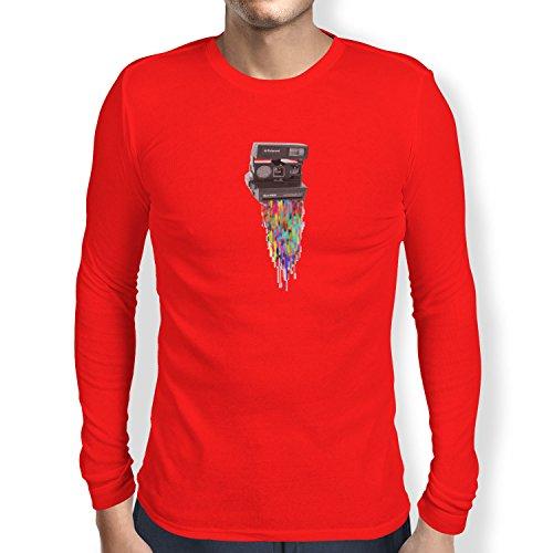 TEXLAB - Colaroid - Herren Langarm T-Shirt Rot