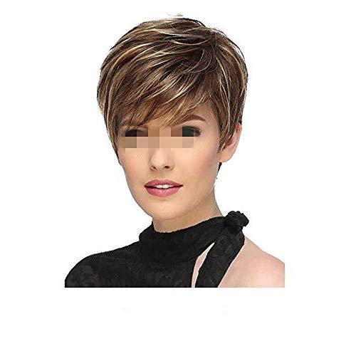 WIG Perruque Duveteuse synthétique pour Cheveux synthétiques Courts et Doux