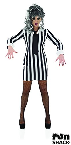 Ladies Striped Ghost Dress Costume - 4 Sizes