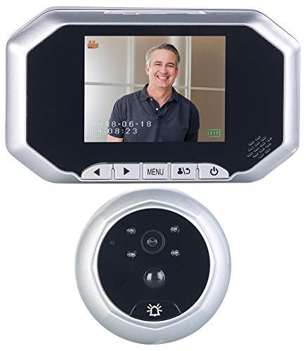 Somikon Haustürklingel: Digitale Türspion-Kamera mit 8,9-cm-Display, PIR, Aufnahme, Nachtsicht (Türspion Kameras mit Nachtsicht)