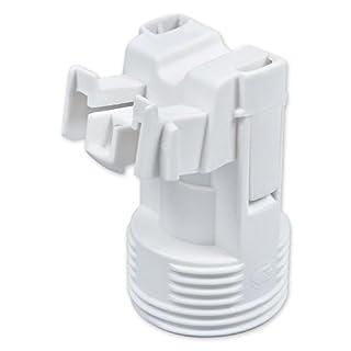 E14 Lampenfassung Kunststoff (PBT), Gewindefassung mit Halterung, Sockel mit Einbuchtung für M4 Schraube Weiß (RAL 9003)