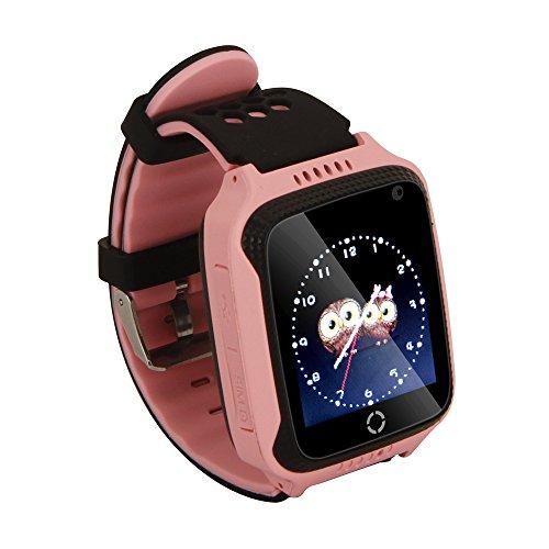 Kinder Geschenke–Smartwatch mit SIM Fernbedienung Kamera, GPRS/lbs Tracker, Verlust, Taschenlampe, SOS Call Finder Armband Kinder Digitale Armbanduhr für iPhone und Android Handy M05 Rosa (Gprs-handy)