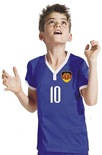 Aprom-Sports DDR Deutschland Kinder Trikot - Hose Stutzen inkl. Druck Wunschname + Nr. BBB WM 2018 (116)