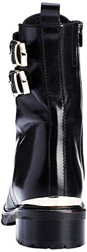 GARDENIA COPENHAGEN Damen Anel Combat Boots Schwarz (Baby Calf Barcelona Black)