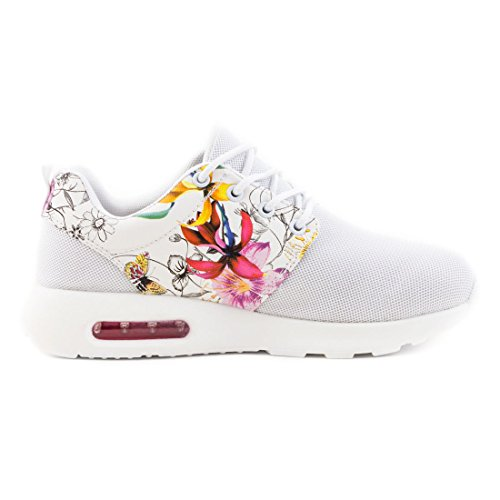 Scarpa Da Running Da Donna Unisex Alla Moda Sneaker Allacciata Sneaker Sportiva Sneaker Bianca Flora