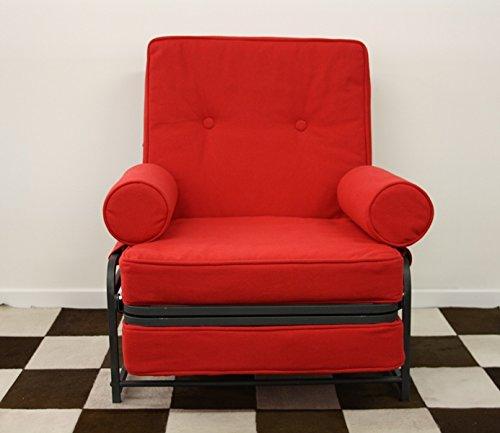 Ponti divani - comoda - poltrona letto singolo con materasso h 10cm di ottima qualità e rete italiana tessuto azzurro
