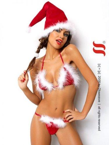 Weihnachtskostüm Santa\'s Helper - 3-teiliges sexy Nikolaus Kostüm von Obsessive