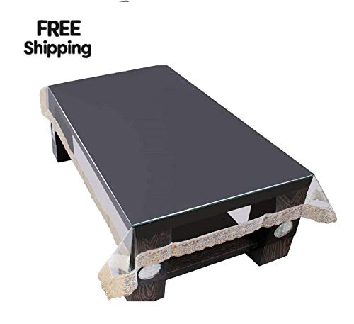 Goel Home Decor Waterproof 4 Seater Dining Clear Table Cover