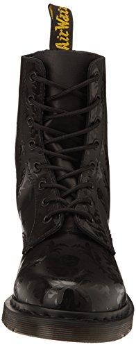 Dr. Martens Cassidy, Boots femme Noir (Black Softy Hi Shine Print)