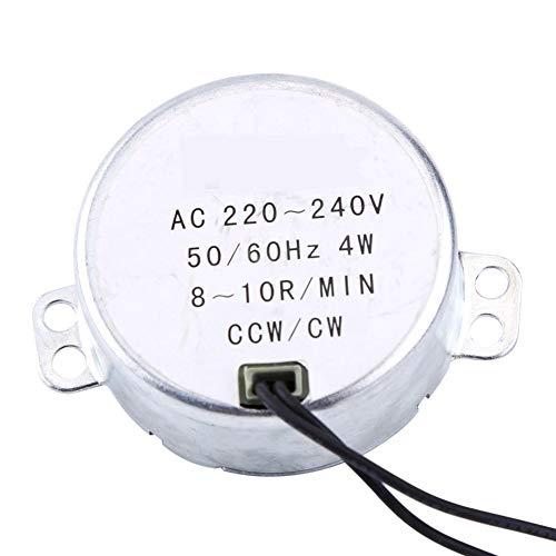 Synchronmotor, 1pc 220-240V AC Synchronmotor Getriebemotor 4W CW/CCW Motorteile AC Motor(8-10 U/min)