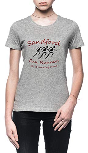 Sandford Fun Run Damen T-Shirt Grau Größe XL - Women's T-Shirt Grey - Fuzz-t-shirt Hot