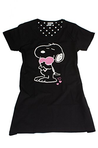 Tex-ass Textilvertriebs GmbH Peanuts Damen Nachthemd (40/42) (Peanut Snoopy Schlafanzug)