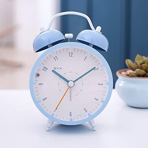 SMAERTHYB Personalidad Creativa Linda De Cabecera Reloj De Alarma del Estudiante Niños Moda Muda Moda Perezoso