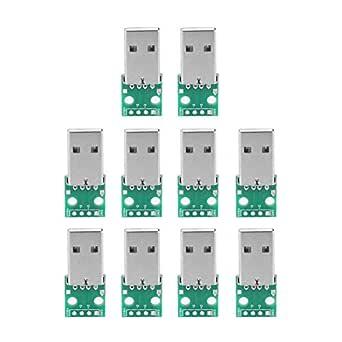 10 Stücke Usb Typ A Zu Dip Adapter Board Usb Breakout Board Männlich 4 P Usb Dip Adapter 2 54mm Pitch Header Adapter Stecker Gewerbe Industrie Wissenschaft