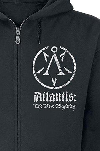 Lost Soul Atlantis Sweat à capuche zippé noir Noir