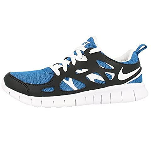 Nike Laufschuhe Free Run 2 (GS) Unisex photo blue-white-black (443742-407), 37,5, blau