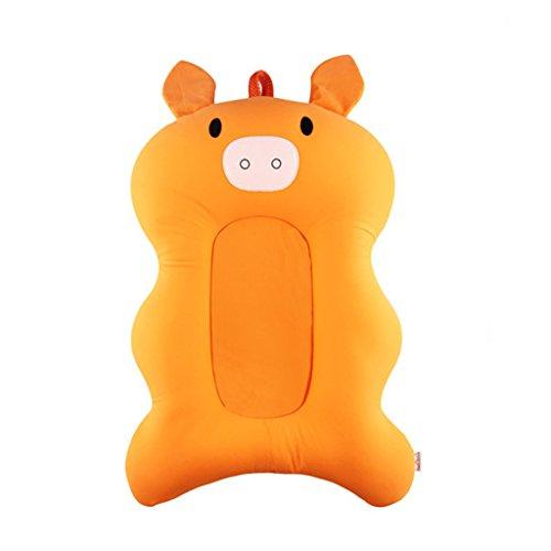 Moonbrid Baby badewanne Neugeborenen Faltbare Baby badewanne pad & stuhl & regal badewanne neugeborenen sitz infant unterstützung Kissen badematte matte (Orange)