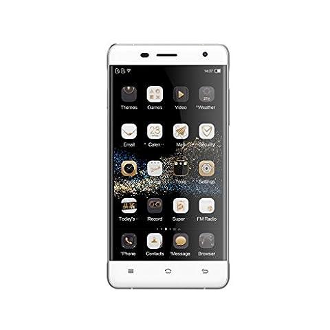 OUKITEL K4000 PRO Smartphone Débloqué 4G (5,0 Pouces Ecran - Capacité 16Go - Double Micro-SIM logements - Android 5.1 Lollipop) Blanc