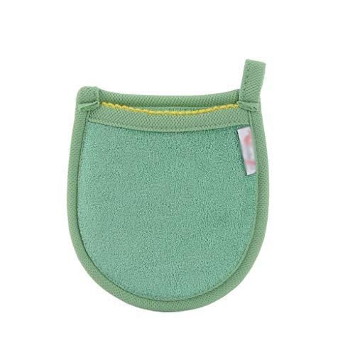 1 Pcs Visage Charbon De Bambou Éponge Visage Démaquillants Beauté Réutilisable Visage Serviettes De Nettoyage Gant De Lavage Maquillage Outils (Color : Green)