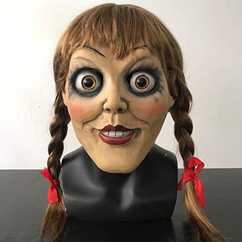 Bilder Kostüm Annabelle - Film Annabelle kommt nach Hause Judy Warren Cosplay Masken Emma Horror Full Head Helm Latex Horrible Mask Party Halloween