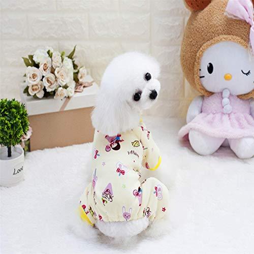 JFFFFWI Haustier Kleidung Hund Pullover Haustier Kleidung Heimtierbedarf dicken vierbeinigen Hausdienst (Farbe: Gelb, Größe: - Dickens Stil Kostüm