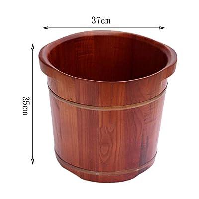 Fußbad Barrel Erhöhung Robust Durable Foot Tub Glatt und Zart Beide Ohren Können Erwähnen, Eiche, (37 * 35 / cm) von CYZ bei Du und dein Garten