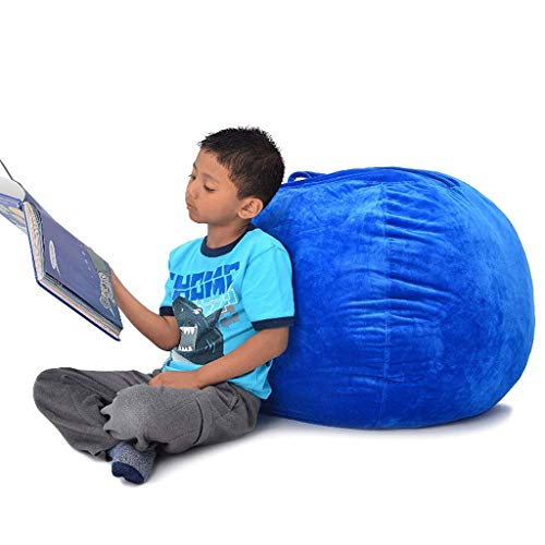 ZLJ Bean Bag/Large Stuffed Animal Storage Bean Bag Soft Close-Fit Tela