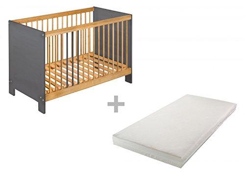 BioKinder 22821 Ahorro establecen: Niklas Cuna 60x120 cm y el colchón. Madera biológica