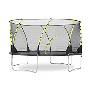 Plum Products Kids Whirlwind Trampoline and 3G Enclosure - Black, 8 Ft