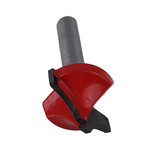 Preisvergleich Produktbild WEONE Ersatz 6 x 22mm Silber und Rot Schaftfräser Holzbearbeitung Router CNC-Stich-V-Nut Sharpen Bit