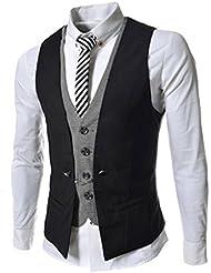 linyuan Hombre Diseñado elegante formal Casual Slim Fit Skinny Vestido Chaleco