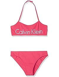 Calvin Klein Core Placed Logo Bandeau Set, Bikini para Niñas