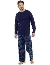 Hombres Calientes Top & Fondos De Paño Grueso Y Suave pijama pijama pijama ropa de descanso DSORqV