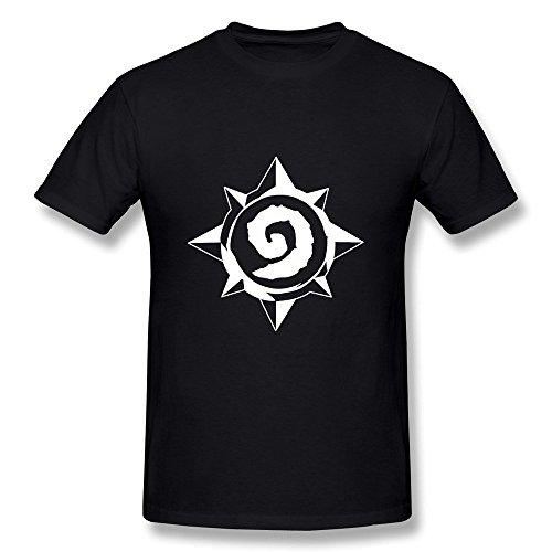 Uomo's T Shirt Hearthstone Heroes Of Warcraft Nero Large