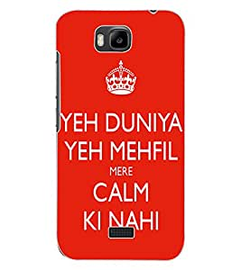 ColourCraft Funny Quote Design Back Case Cover for HUAWEI HONOR BEE