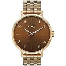 Nixon Reloj Analogico para Mujer de Cuarzo con Correa en Acero Inoxidable A1090-2803-