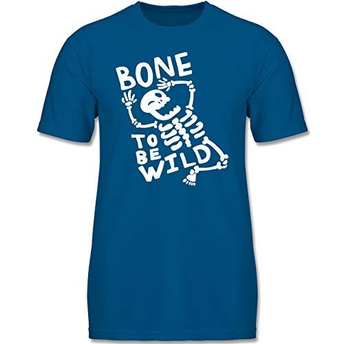 Anlässe Kinder - Bone to me Wild Halloween Kostüm - 134-146 (9-11 Jahre) - Royalblau - F140K - Jungen T-Shirt